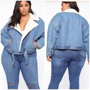 NWT Fashion Nova Curve Icon Denim Jacket